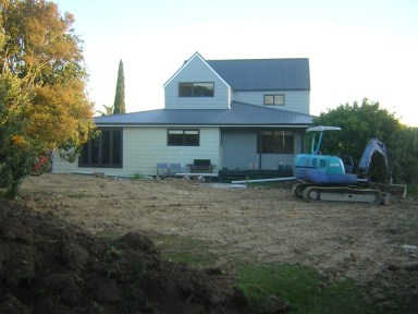 So the lawn gets turned to mud; the renovation was worth it. Photo: Gray-Leslie family archive