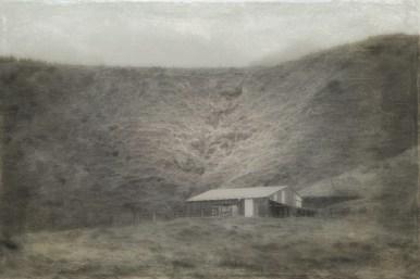 Abandoned woolshed, Taranaki, NZ. Image: Su Leslie, 2017