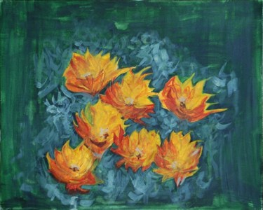 flowers afire