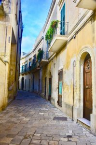 Empty streets of Lecce