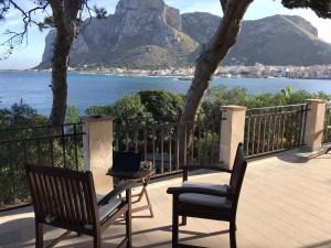 View of Sferracavallo sea Relaxing in in Sferracavallo Italy