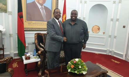 Malawi's President Mutharika meets Wicknell Chivayo