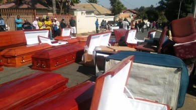 Photo of Residents raid suspected drug den and discover 'used' coffins in house