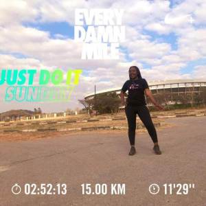Fitness Bae after running 15 kms