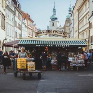 Markt in der Prager Innenstadt