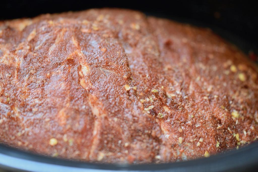 Rezepte: Hauptgerichte: Pulled Pork - roh - mit dem Rub mariniert