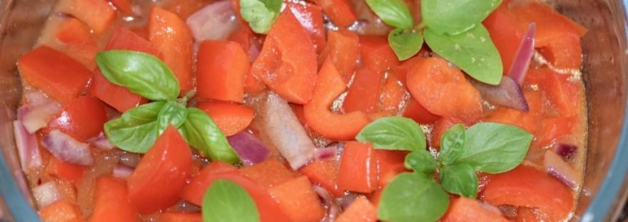 Rezepte: Beilagen: Paprikagemüse mit Kurkuma aus der Mikrowelle