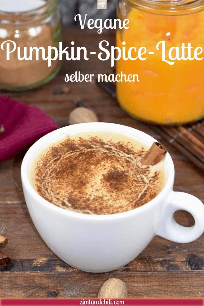 vegane Pumpkin Spice Latte - Pumpkin Spice Latte - Rezept - vegan - Starbucks - selber machen - einfach - Mandelmilch - Kaffee - Getränke - schnell