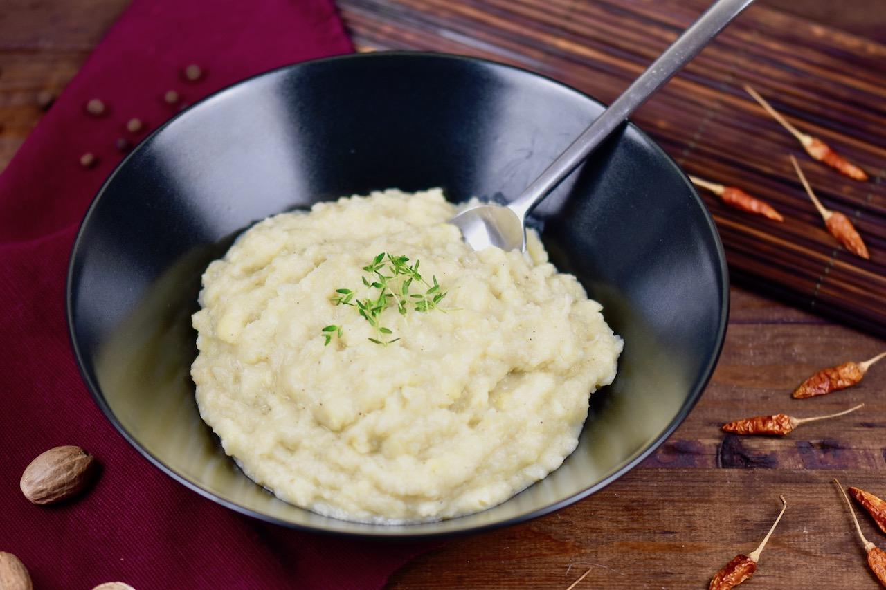 Cremiges Kartoffel-Pastinaken-Püree – veganes Rezept
