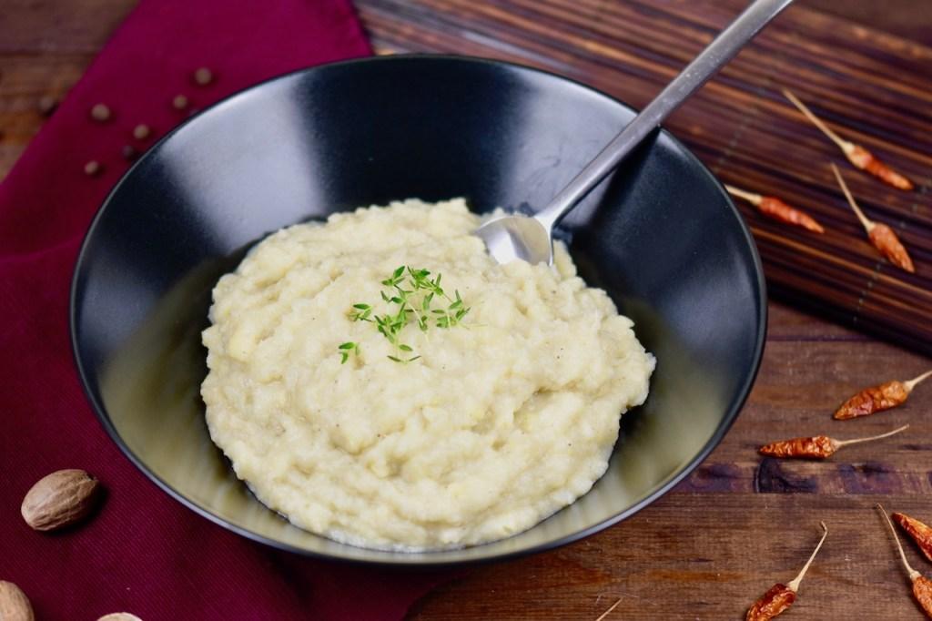 cremiges Kartoffel-Pastinaken-Püree - Kartoffel-Pastinaken-Püree - vegan - Rezept - Kartoffel Pastinaken Stampf - Beilage - Pastinaken Kartoffel Püree - einfach - glutenfrei