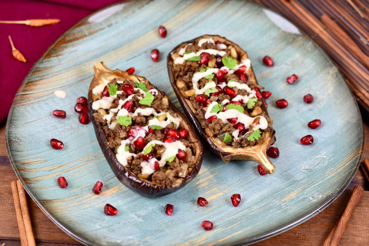 Gefüllte Auberginen mit Hackfleisch – orientalisches Rezept