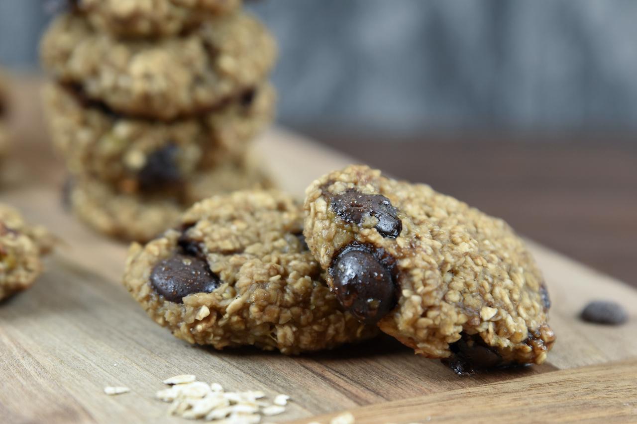 Weiche Chocolate Chip Cookies aus nur 3 Zutaten
