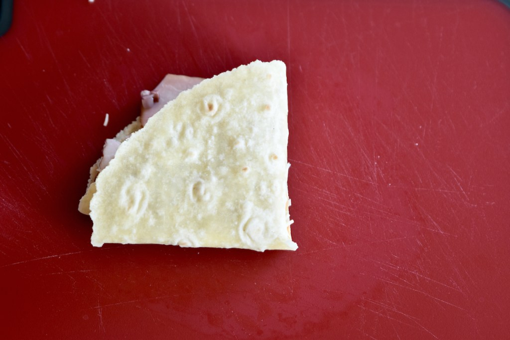 Ruben Sandwich - Tortilla Wrap komplett zusammen gefaltet.