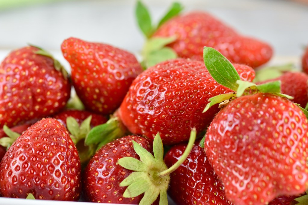 Erdbeeren - Nahaufnahme
