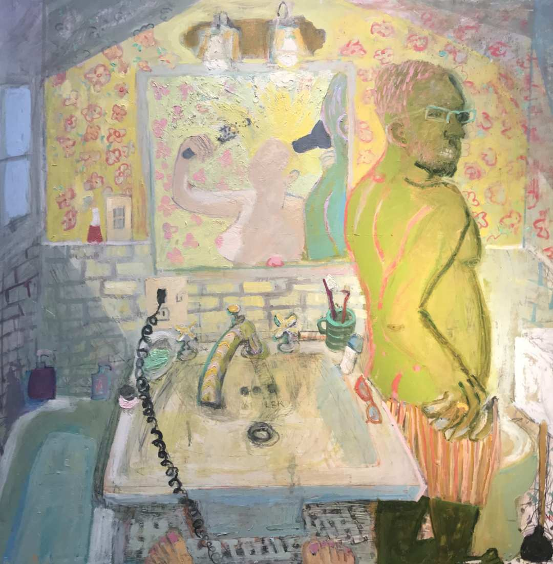 ancooper_Small Bathroom_36x30__oil on panel
