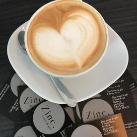Zinc home and gift coffee art