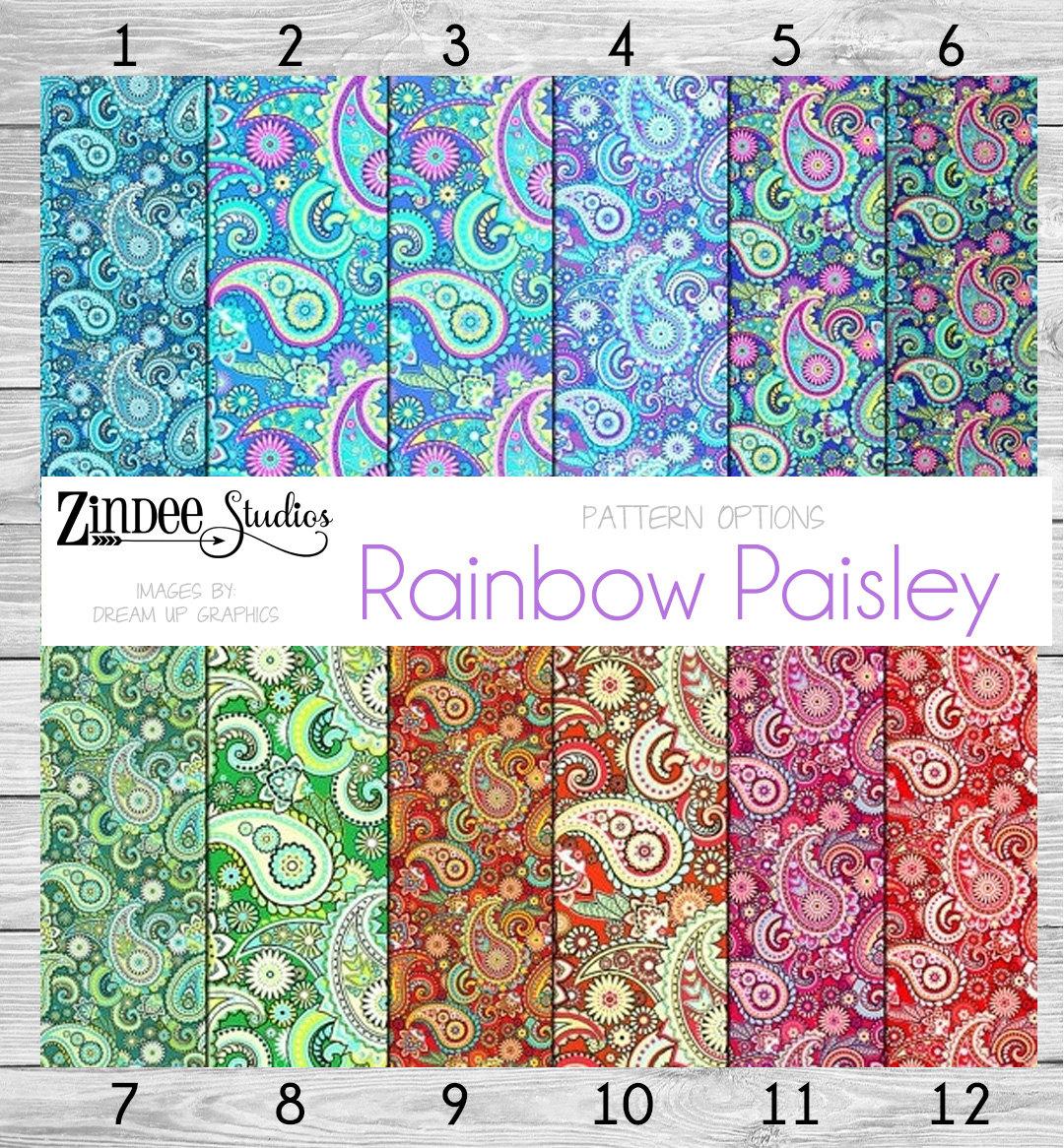 Rainbow Paisley Vinyl