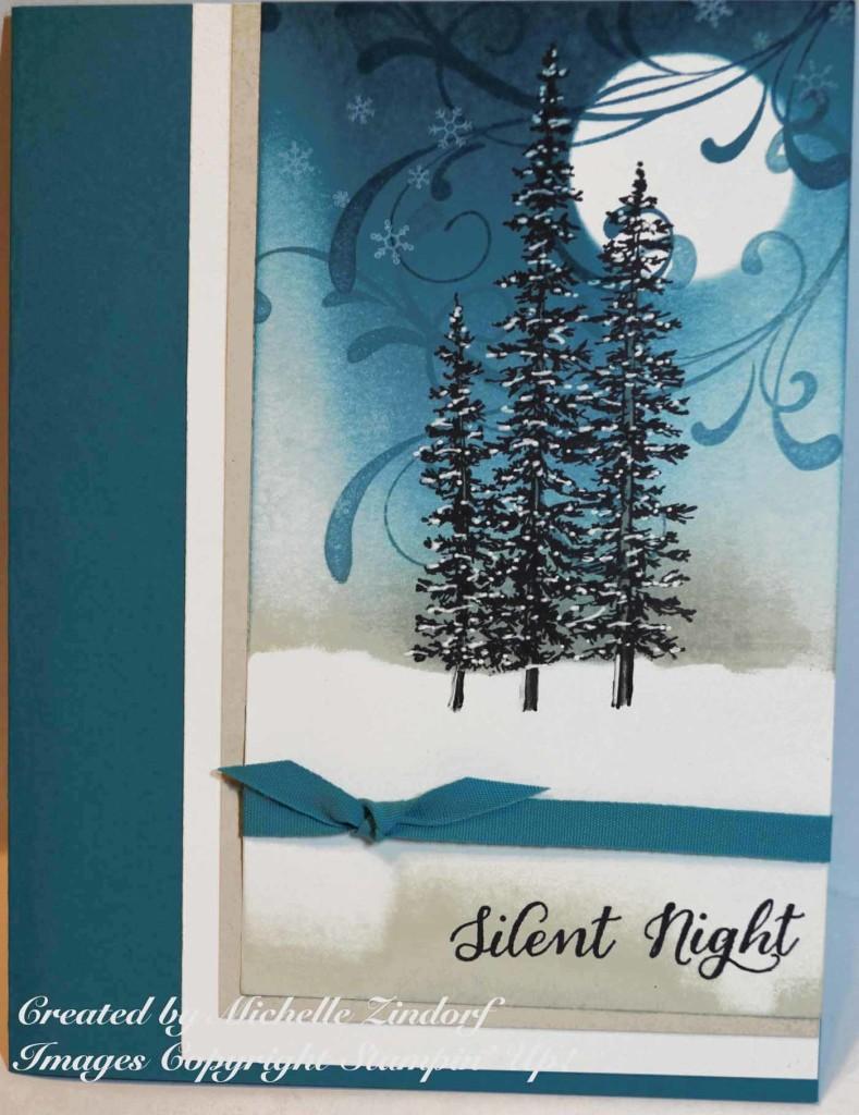 Silent Night Wonderland Stampin Up Card