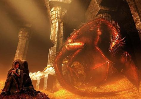 Smaug dragon el hobbit