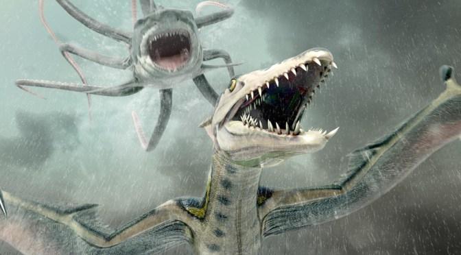 """Sharktopus vs Pteracuda"" (2014), pim pam pum…"