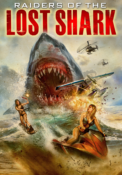 Raiders of the lost shark - poster