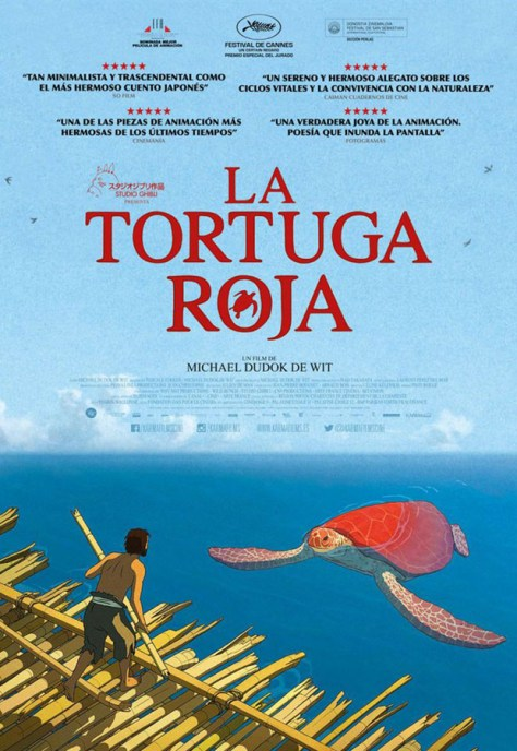 La tortuga roja - poster