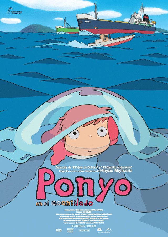 Ponyo en el acantilado - poster