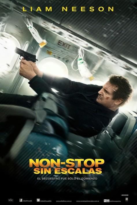 Cartel de la película Sin escalas, de 2014