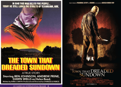 Carteles de The town that dreaded sundown, de 1976 y 2014