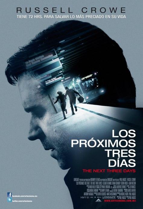 Cartel de la película Los últimos tres días, de 2010