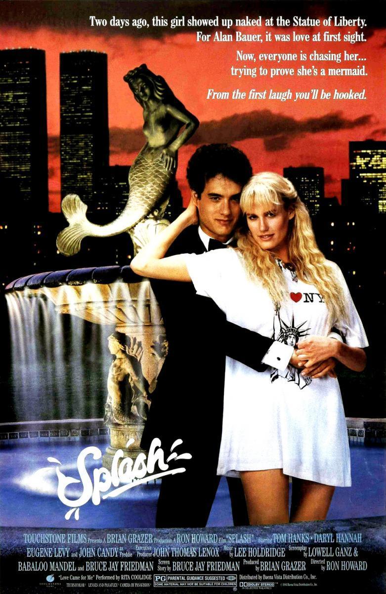 Cartel de Splash, de 1984