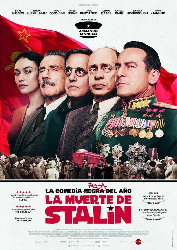 Cartel de la película La muerte de Stalin