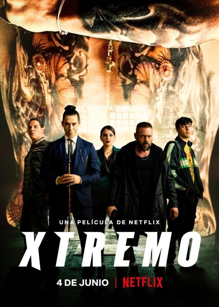 Cartel de la película Xtremo, de Netflix.