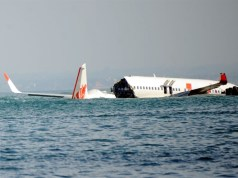Crashed Indonesian Boeing 737 plane