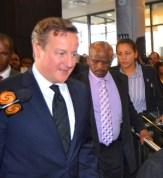 David Cameron speaks to the media. Photo: Nokuthula Manyathi
