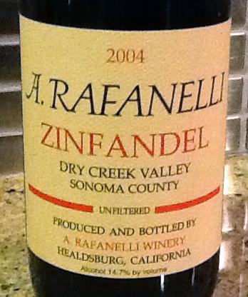 2004 A. Rafinelli Zinfandel