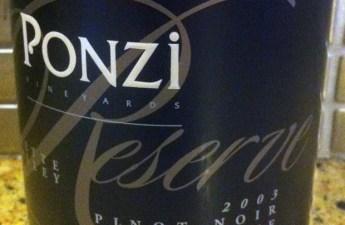 2003 Ponzi Reserve Pinot Noir