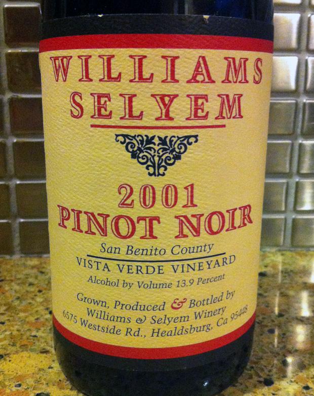 2001 Williams Selyem Pinot Noir