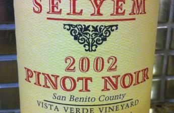 2002 Williams Selyem Pinot Noir