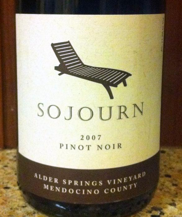 2007 Sojourn Alder Springs Pinot Noir