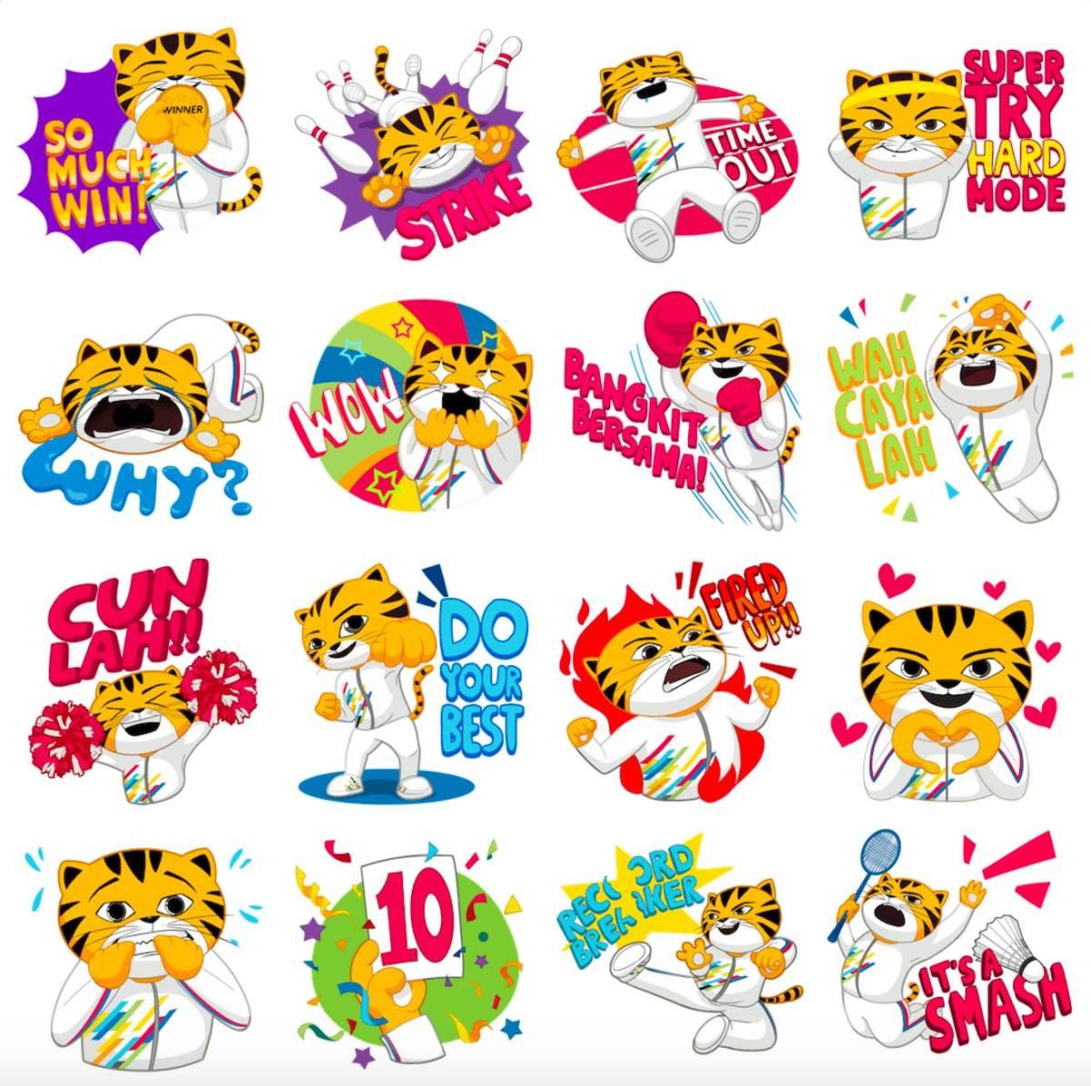 Rimau stickers