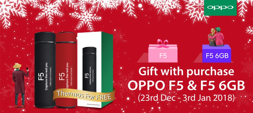 OPPO F5 & F5 6GB to get a free Thermo