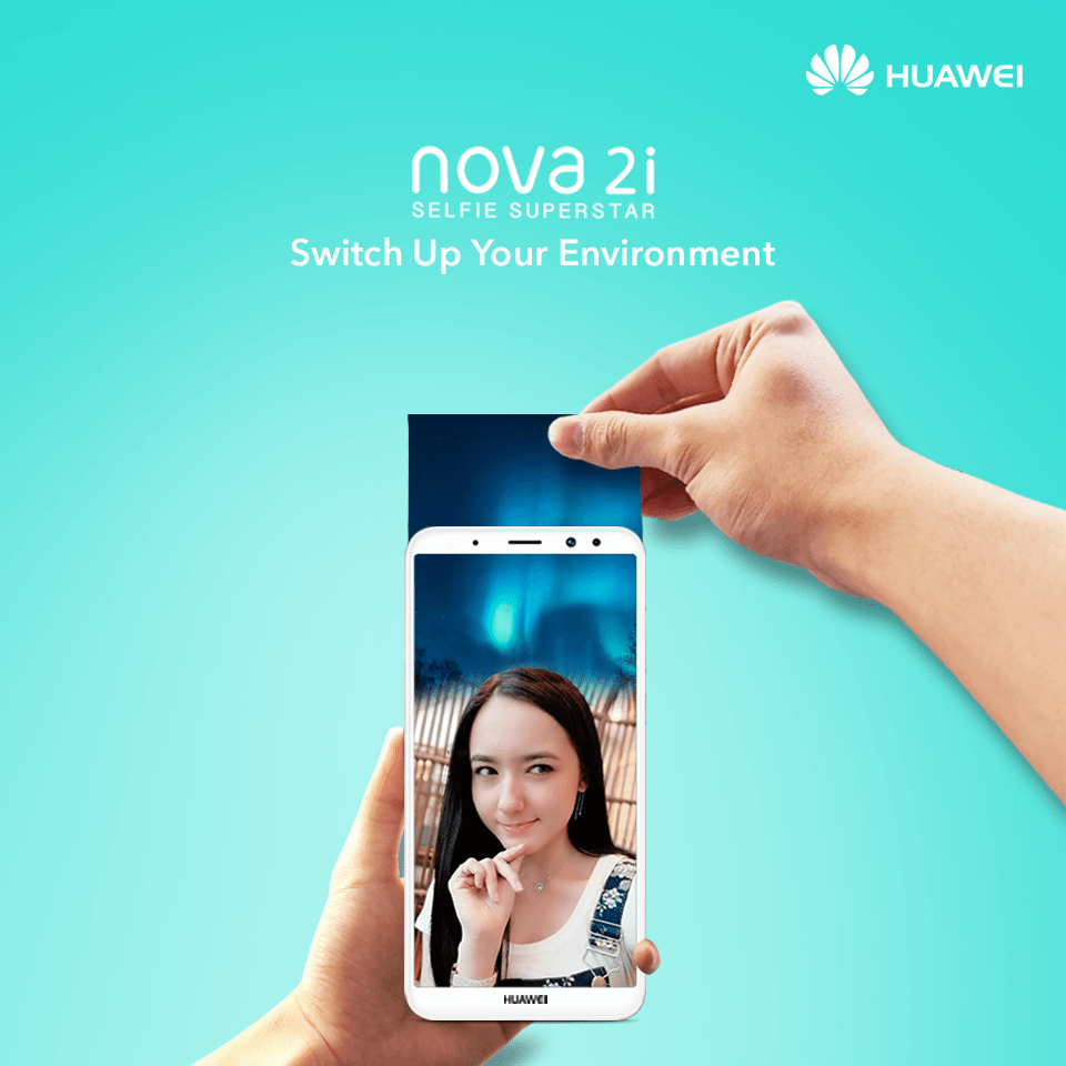 Switch up your environment with HUAWEI nova 2i's AR lens