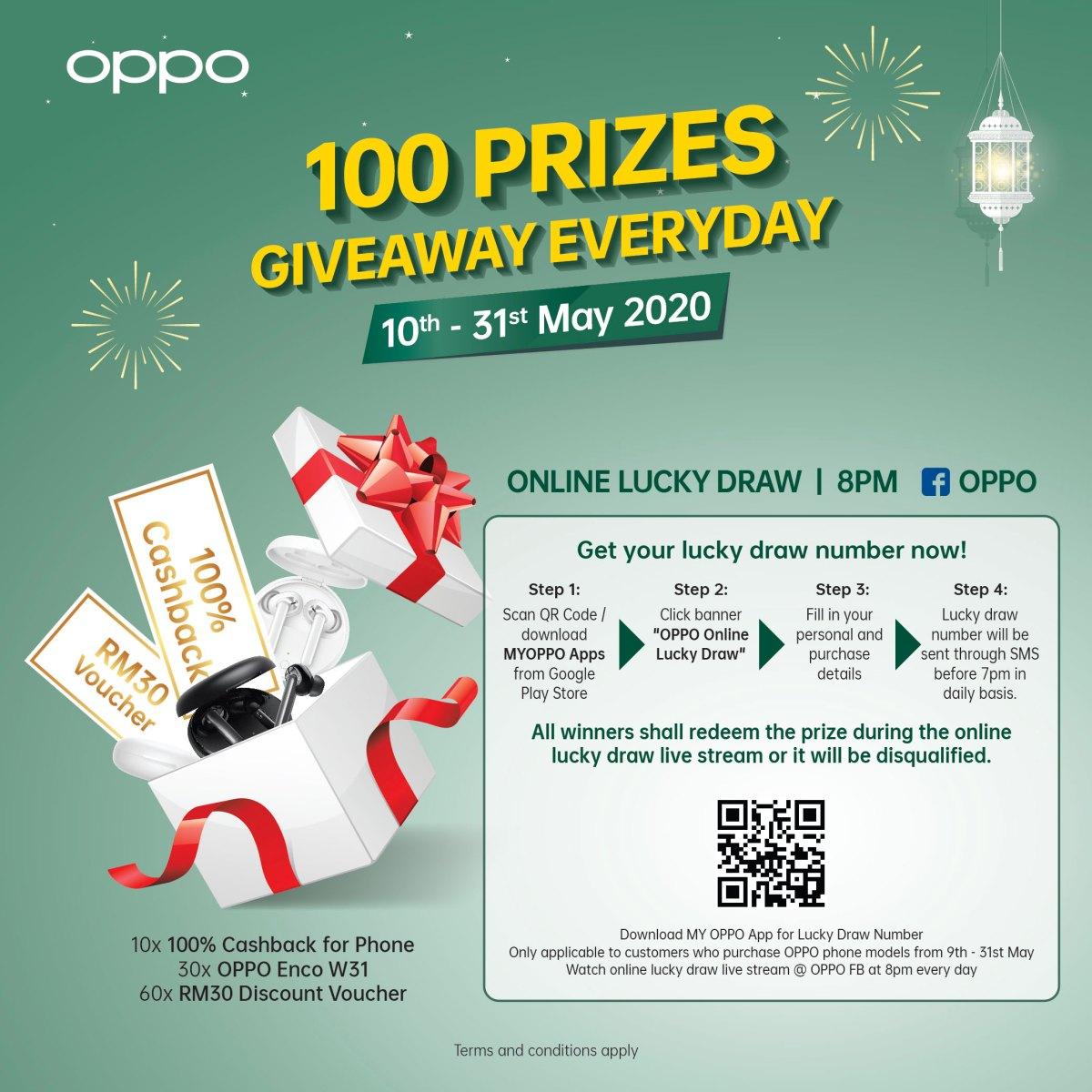 OPPO Raya期间送好康!Find X2、Reno系列等手机可享最高RM499赠品、参加抽奖还可享现金回扣! OPPO-Raya-Lucky-Draw