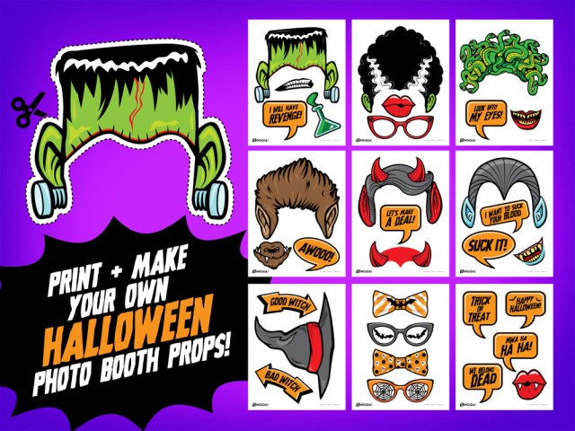 Halloween Monster Photo Booth Props