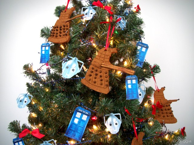 Doctor Who Christmas Tree with the 10th Doctor