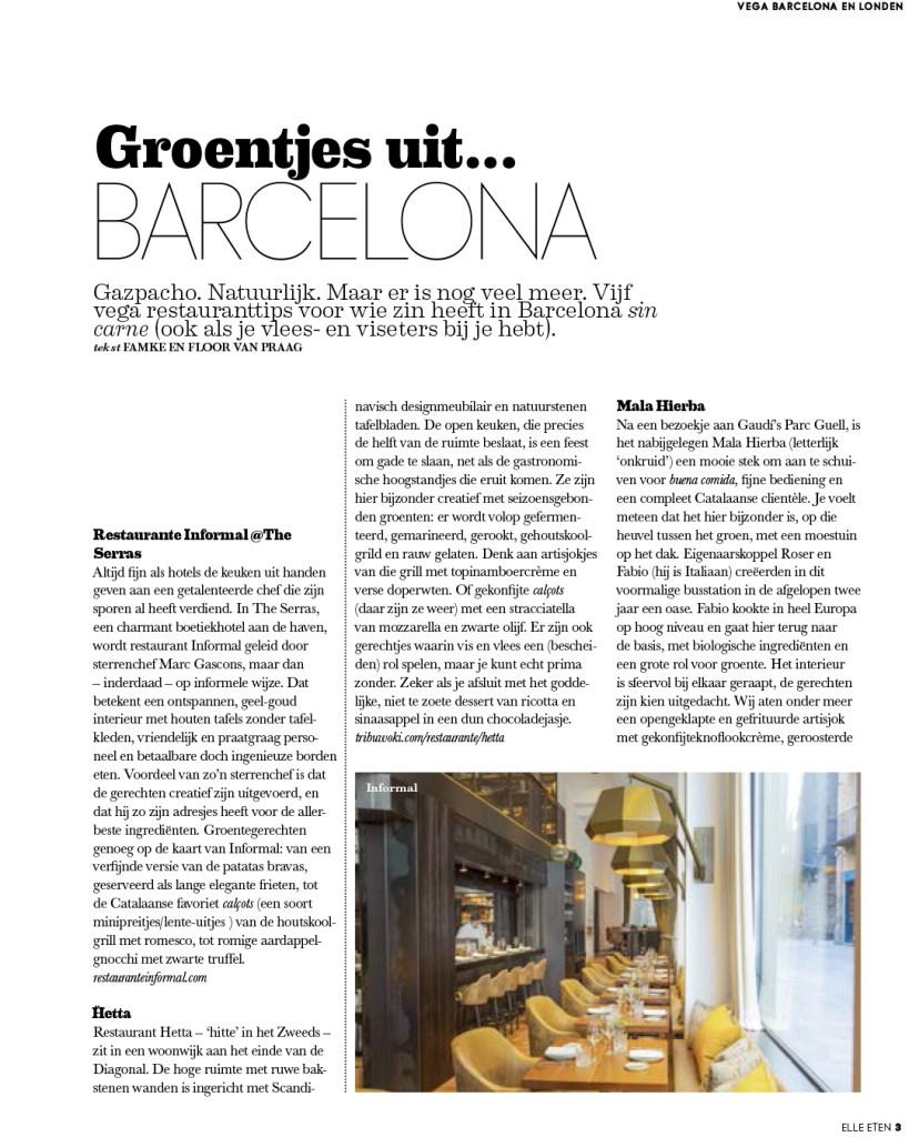 Groentjes uit Barcelona & Londen Article pg 2