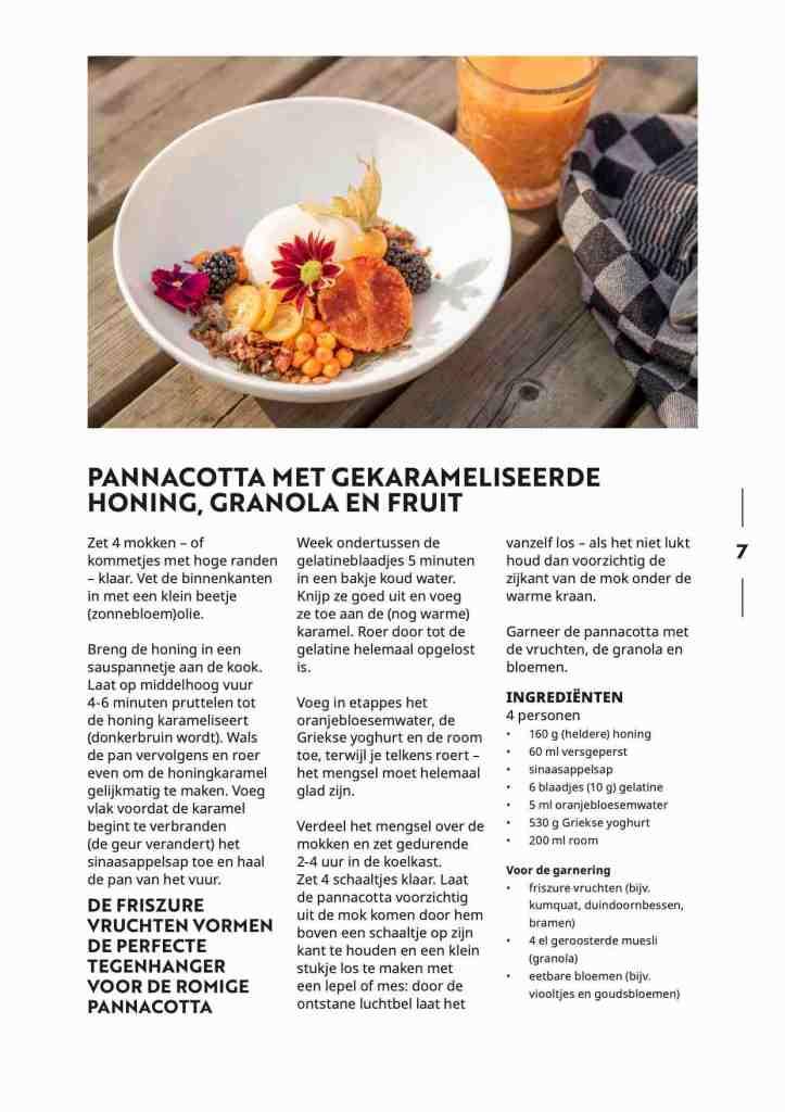 Lindenhoff Dignita pannacotta recept Famke & Floor van Praag