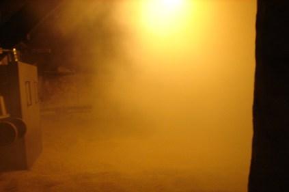 Komory przylegają do słodowni. W tej aż gęsto od armoatycznego torfowego dymu