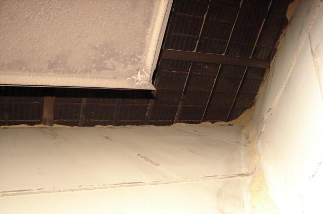 W Bowmore mogłem wejść do pomieszczenia za piecem które znajduje się bezpiśrednio pod suszarnią. Przez te kratki w suficie dostaje się dym z pieca do suszarni